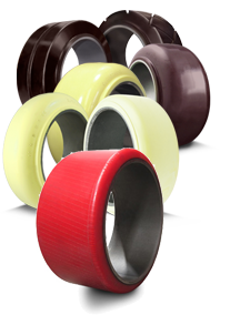 polyurethane press-on forklift tires