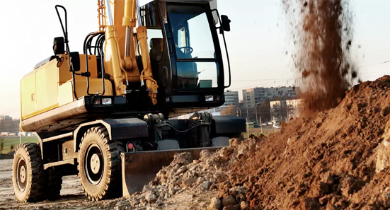 Excavator tires suitable for applications carrying high loads and working with high air pressure to deliver excellent stability