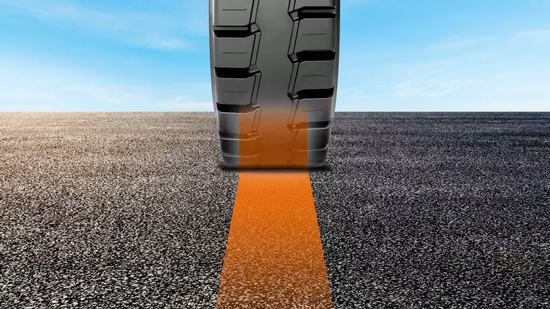Lets operators and fleet managers know with 100% accuracy when tires need replacing