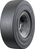 10.00-20 Forklift Tires 10.00-20 [7.50] Smooth Black Standard Continental CT Trailer Solid Pneumatic Tire (7.50 Standard Rim)