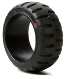 10-1/2x5x6-1/2 Forklift Tires 10-1/2x5x6-1/2 Smooth Black Rhino Universal Solid Press-on Forklift Tire