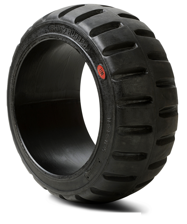 12x5-1/2x8 Forklift Tires 12x5-1/2x8 Traction Black Rhino Universal Solid Press-on Forklift Tire
