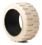 13-1/2x4-1/2x8 Forklift Tires 13-1/2x4-1/2x8 Traction Non Marking Rhino Universal Solid Press-on Forklift Tire