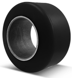 9x5x5 Forklift Tires 9x5x5 Smooth Black Polyurethane  Superior XL-BK SF Press-on