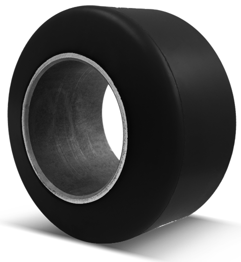 22x9x16 Forklift Tires 22x9x16 Smooth Black Polyurethane  Superior XL-BK SF-CG Press-on