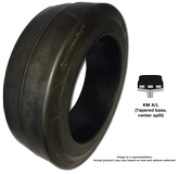 200/75-100 Forklift Tires 200/75-100 Smooth Continental MH20 KmL Solid Press-on Forklift Tire