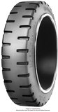 170/75-100 Forklift Tires 170/75-100 Traction Continental MC20 ZL Solid Press-on Forklift Tire