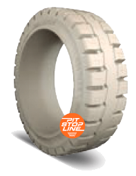 16-1/4x6x11-1/4 Forklift Tires 16-1/4x6x11-1/4 Traction Non Marking Trelleborg PS1000 Multi-Purpose Press-On Tire