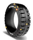 16-1/4x5x11-1/4 Forklift Tires 16-1/4x5x11-1/4 Traction Black Trelleborg PS1000 Multi-Purpose Press-On Tire