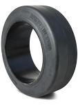 16x5x10-1/2 Forklift Tires 16x5x10-1/2 Smooth Black Rhino R1 Solid Press-on Forklift Tire