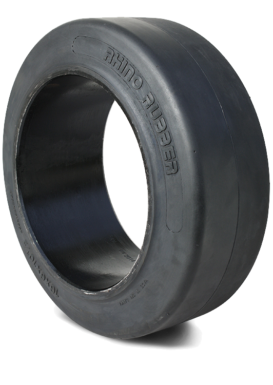 16x6x10-1/2 Forklift Tires 16x6x10-1/2 Smooth Black Rhino R1 Solid Forklift Tire Press-on