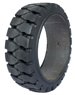 18x6x12-1/8 Port Tires 18x6x12-1/8 Traction Rhino R-2 Solid Forklift Tire Press-on