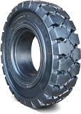4.00-8 Port Tires 4.00-8/3.75 Traction Black Rhino Rubber Forte Solid Pneumatic Tire (3.75 Standard Rim)