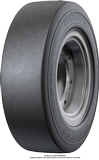 300-15 (315/70-15) Forklift Tires 300-15 (315/70-15) [8.0-15] Smooth Black SIT Continental SH12 Solid Pneumatic Tire (8.0-15 SIT Rim)